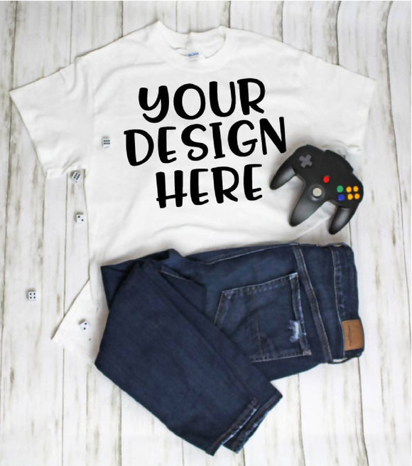 Geeky Gamer Nerd Mock Up