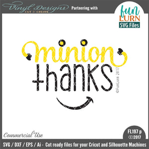 Minion Thanks Cut File