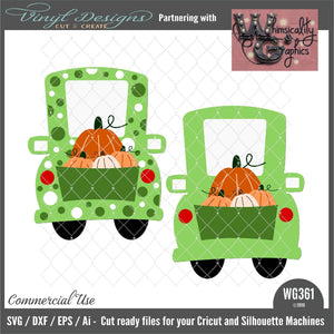 Whimsy Fall Pumpkins Truck Cut File WG361