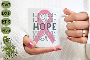 Breast Cancer Ribbon Hope SVG File