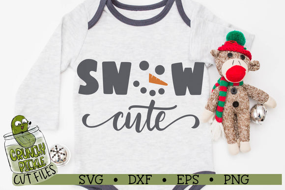 Snow Cute Snowman SVG Cut File