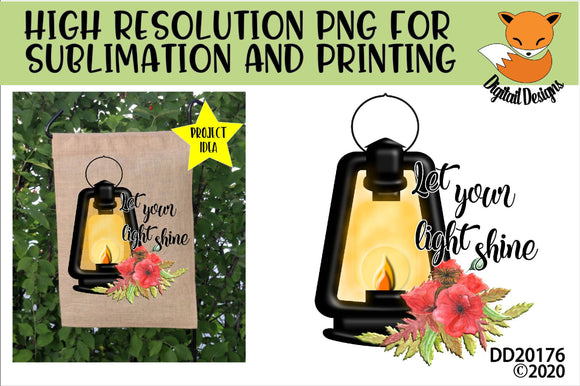 Let Your Light Shine Camping Lantern Sublimation Design