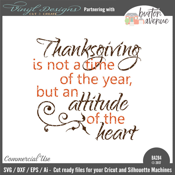Thanksgiving Is An Attitude Of The Heart