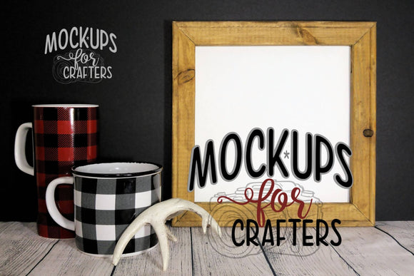 Reverse Canvas Mock-Up - RUSTIC THEME