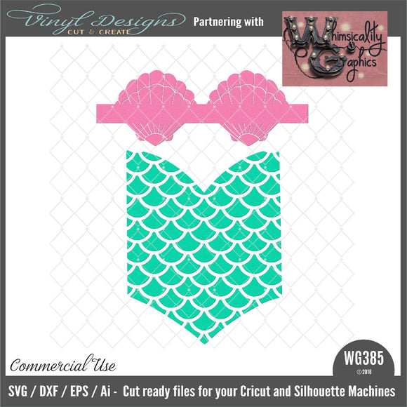 Mermaid Cutie Cut File WG385
