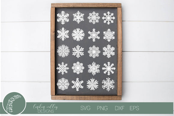 Snowflake Background SVG