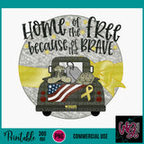 Because of the Brave Printable 300 dpi PNG WGP130