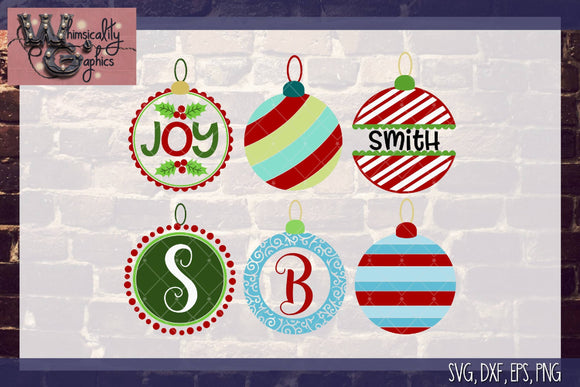 Christmas Ornament Set Cut Files WG162