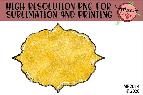Yellow Sublimation Frame Background