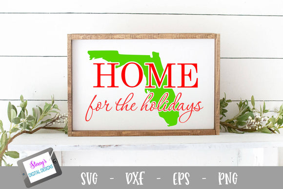 Florida - Home for the Holidays SVG - Christmas SVG