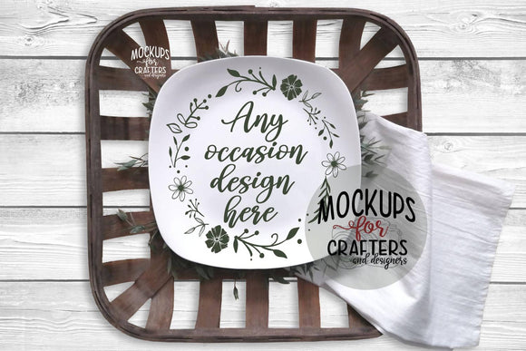 Dinner Plate, Serving Plate MOCK-UP