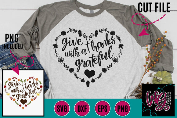 Give Thanks With a Grateful Heart Cut File