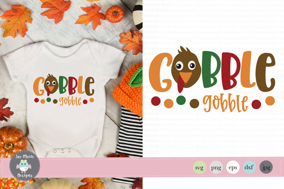 Gobble Gobble svg, Thanksgiving cut files