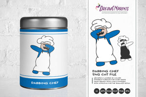 Dabbing Chef SVG - Dabbing Around the Kitchen SVG
