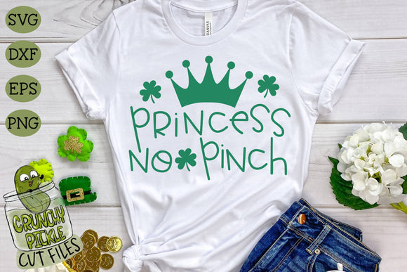 Princess No Pinch - St. Patrick's Day SVG File