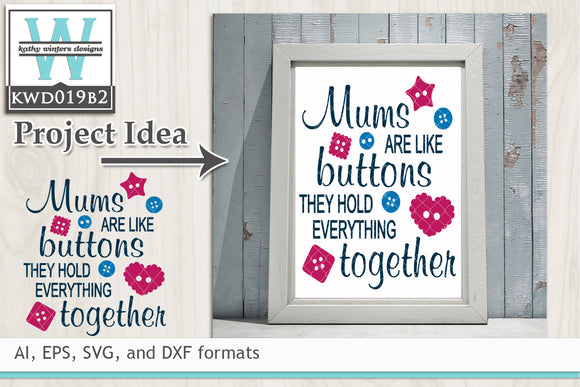 12+ Mothers Cutting File Kwd136F Design