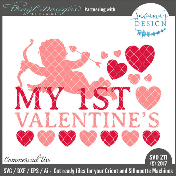 My First Valentines Cut File