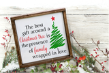 Best Gift Around a Christmas Tree SVG | DXF Cut File
