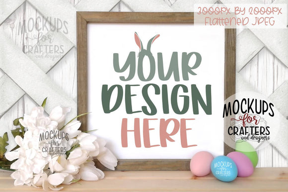 Wood Sign Mock-Up - Easter / Spring theme