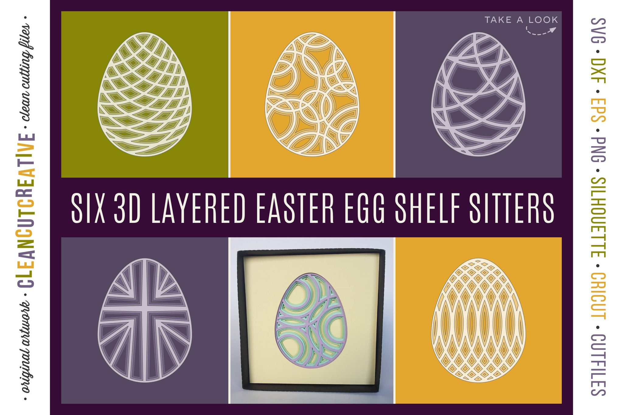 3d Layered Easter Egg Shelf Sitters Shadow Boxes Stacked Paper Art Svg Font Market