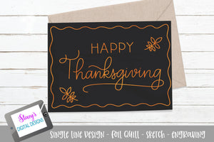 Foil Quill - Happy Thanksgiving SVG - Sketch File