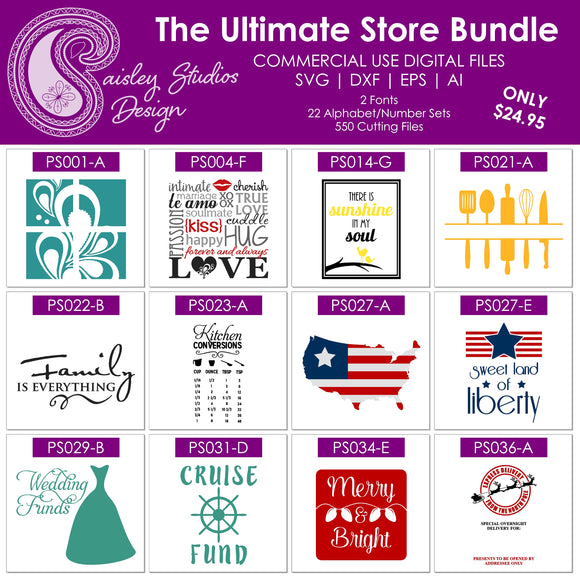 Ultimate Store Bundle cut files