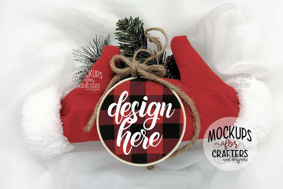 Embroidery Hoop Ornament Mock-Up