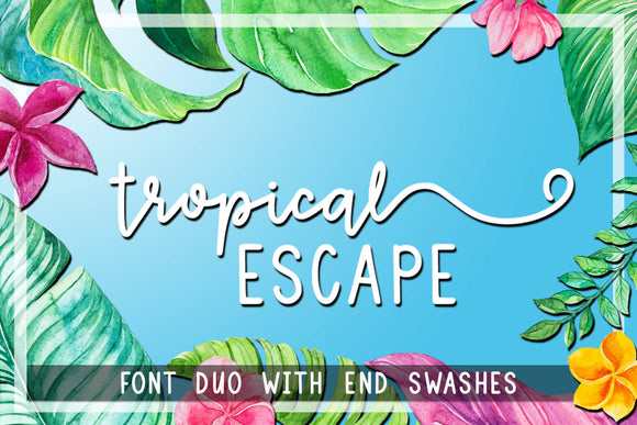 Tropical Escape Font OTF TTF