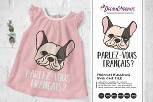 French Bulldog SVG Illustration