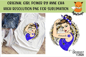 Girl Power By Anne Cha Art Paramedic Sublimation Design