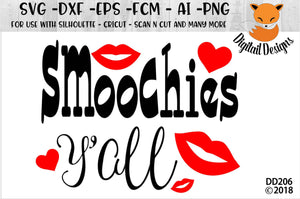 Smoochies Y'All Valentine Love SVG