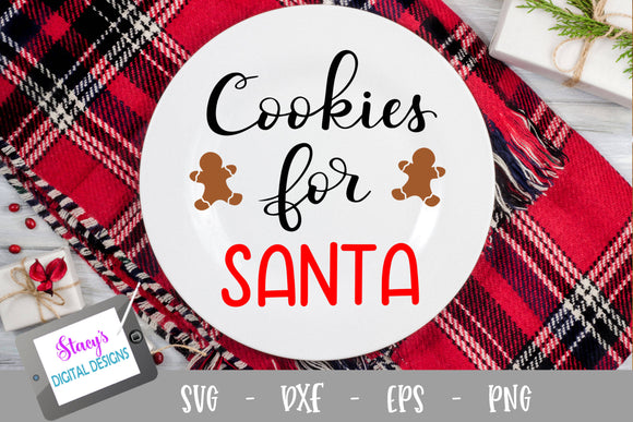 Christmas SVG - Cookies for Santa SVG - Handlettered