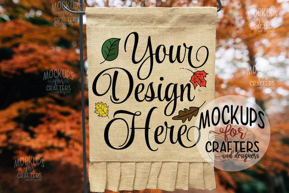 Flag Mock-Up - Ruffled Bottom - Fall theme