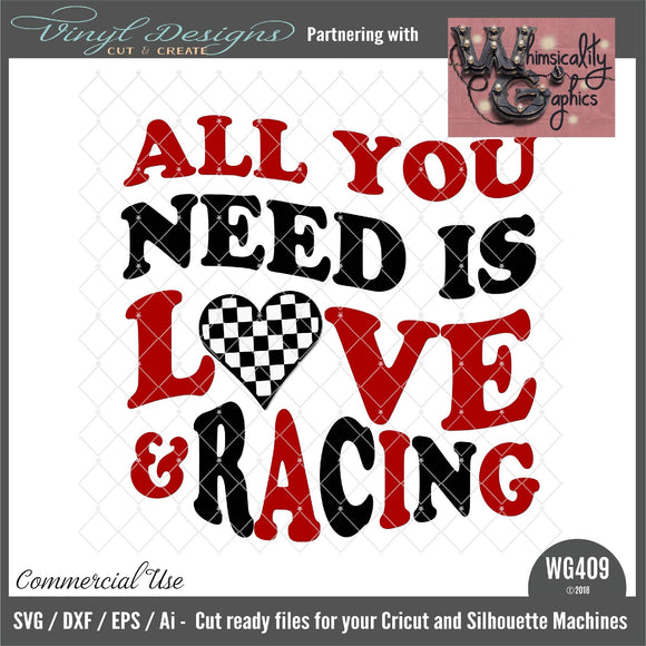 All You Need is Love and Racing Cut File WG409