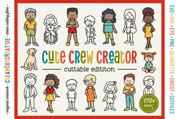 CUSTOM FAMILY CREATOR stick figure people portrait generator SVG cutfile