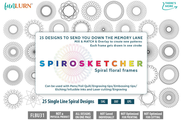 Spirosketcher - Single Line Spiral Mandala Graphics SVG Bundle