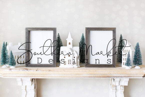 5X7 WOOD FRAMED VERTICAL CHRISTMAS DIGITAL MOCK UP STOCK PHOTOGRAPHY