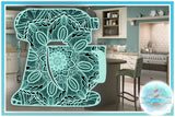 3D Layered | 3D Kitchen Mixer Mandala SVG | Multilayer SVG