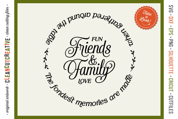 Friends & Family Fondest Memories Gathered Table - round SVG