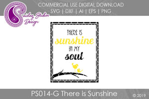 There is Sunshine in My Soul Cut File