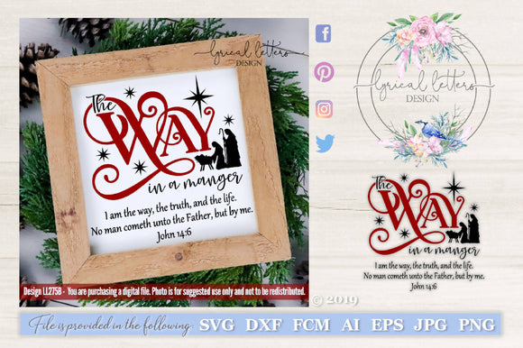 The Way in a Manger SVG Cut File