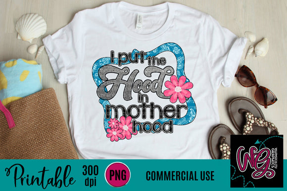 Hood in Motherhood Paisley Printable 300 dpi PNG WGP137