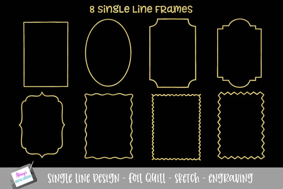 Foil Quill - Single line Frame bundle - 8 Frames