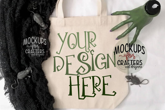 Trick or Treat Bag, Tote Bag - Mock-Up with BONUS