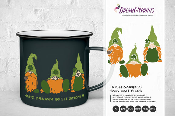 Irish Gnomes SVG - St Patrick's Day Svg