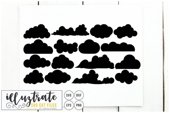 Clouds SVG Cut File