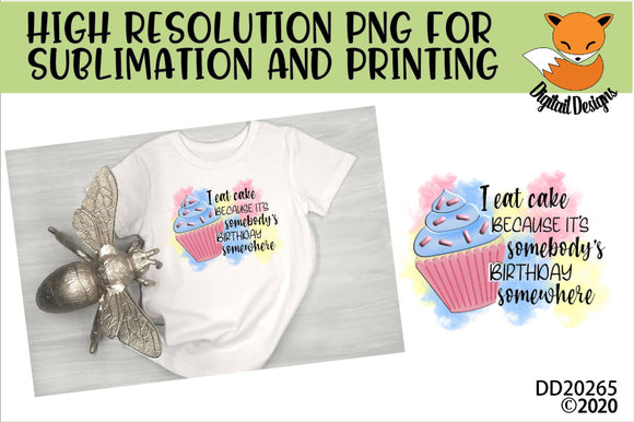 Funny Birthday Cake Sublimation Design