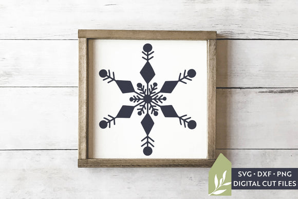 Hand Drawn Snowflake SVG, Christmas SVG