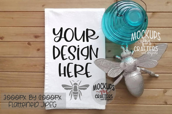 TEA TOWEL, Dish Towel, Bees, MOCK-UP