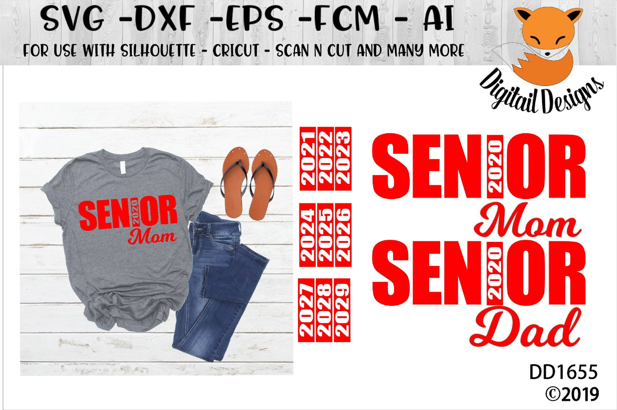 Senior Mom Dad With Interchangeable Years Svg Svg Font Market
